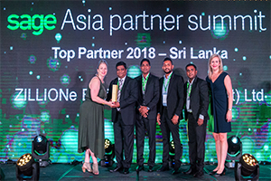 ZILLIONe Crowned as the Top partner for SAGE 300 2018 – Sri Lanka & Maldives