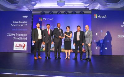 ZILLIONe awarded the Microsoft Business Applications Partner 2019